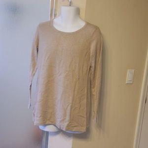 Susan Graver Beautiful Tan Blouse
